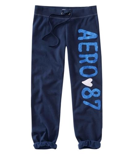 Aeropostale Womens Aero Glitter Sleep Pajama Sweatpants navyniblue XL/32