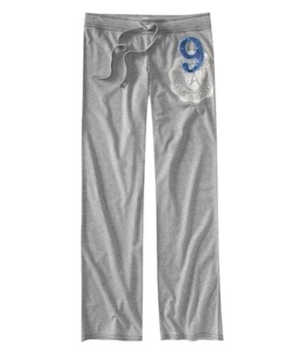 Aeropostale Womens Embroidered #9 Knit Pajama Lounge Pants lththrgray XXS/32