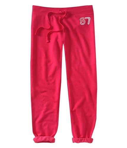 Aeropostale Womens 87 Cropped Caprifleece Lounge Casual Sweatpants pinkbl M/32