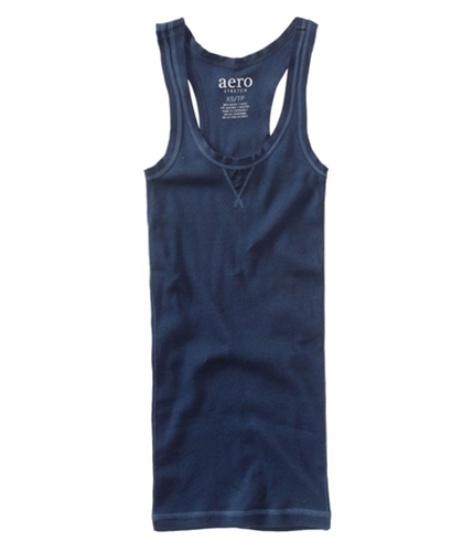 Aeropostale Womens Solid Ribbed Pajama Sleep Cami Tank Top navyniblue XS