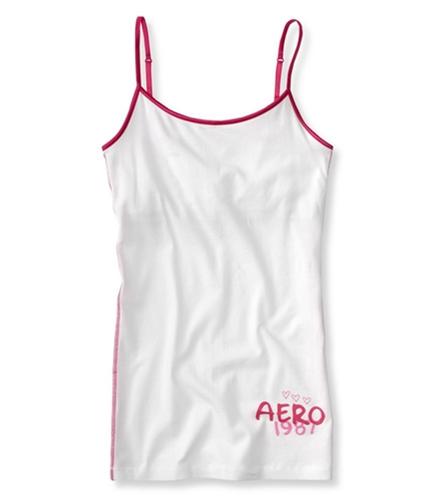 Aeropostale Womens Aero 1987 Cami Tank Top bleach S