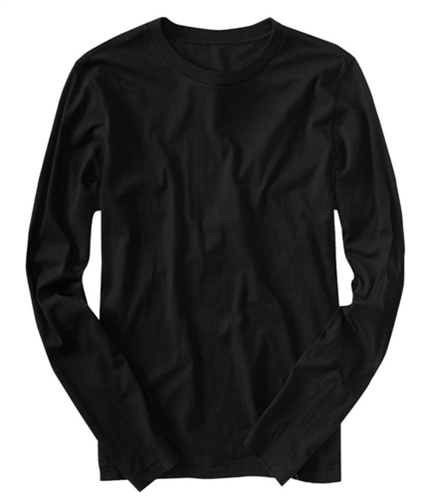 Aeropostale Mens Long Sleeve Solid Basic T-Shirt black M