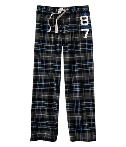 Aeropostale Mens Plaid Aero 87 Pajama Lounge Pants charcoal M/32