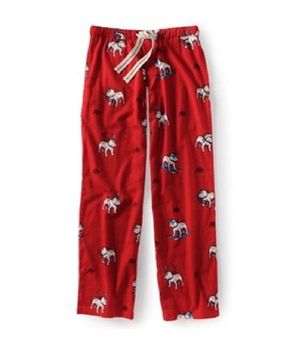 Aeropostale Mens Bulldog Christmas Pajama Lounge Pants redcla XS/32