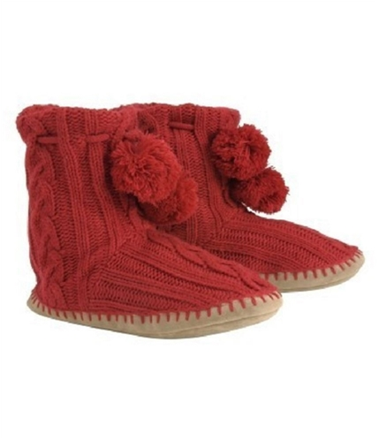 Aeropostale Womens Comfy House Moccasin Slippers cherryred S