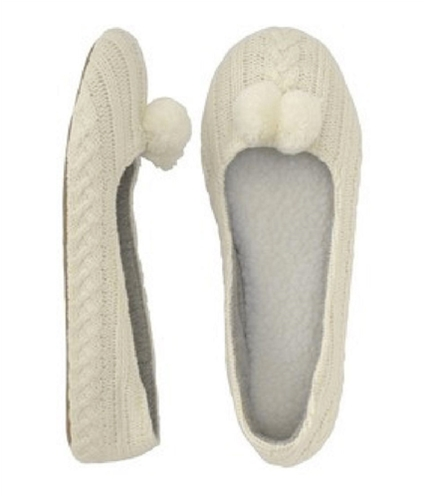 Aeropostale Womens Knit Ballet Slippers floralwhite 6