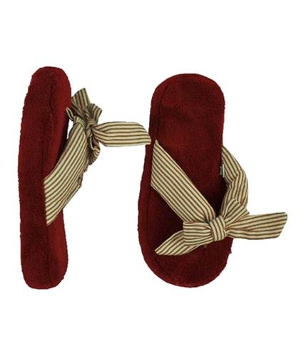 Aeropostale Womens Stripe Ribbon Flip Flop Slippers cherry S