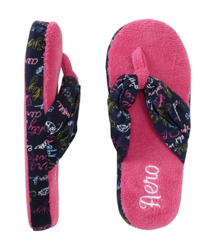 Aeropostale Womens Comfy House Flip Flop Slippers navynightblue S