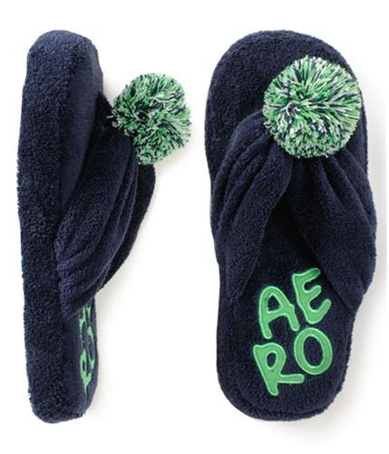 Aeropostale Womens Thongs Open Toe House Flip Flop Slippers navyni S