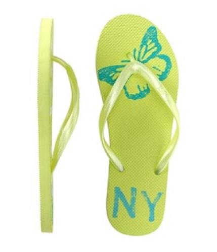 Aeropostale Womens Graphic Flip Flop Sandals honeydewgreen 9