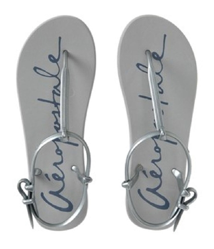 Aeropostale Womens Casual Strap Flip Flop Sandals bluffgray 7