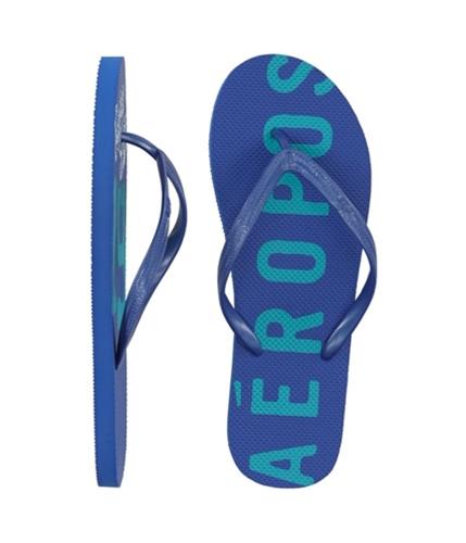 Aeropostale Womens 19 Eighty Seven Flip Flop Sandals morningblue 8