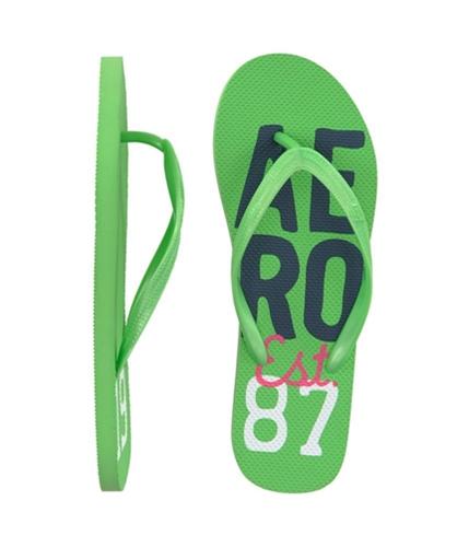 Aeropostale Womens Graphic Flip Flop Sandals applegreen 7