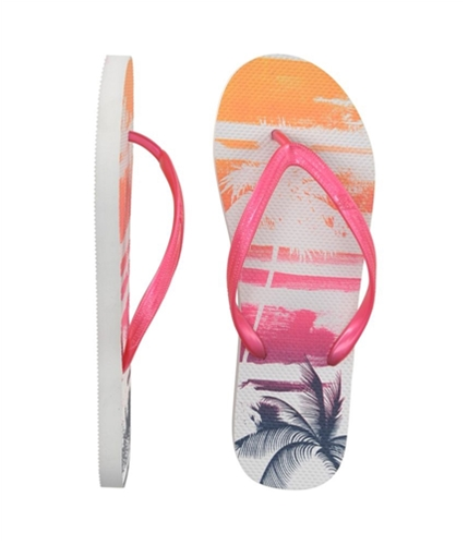 Aeropostale Womens Hawaiian Flip Flop Sandals pink 8