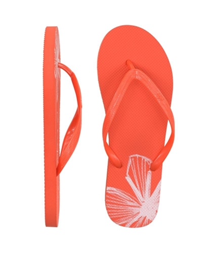 Aeropostale Womens Graphic Flip Flop Sandals tuttifruityorange 9