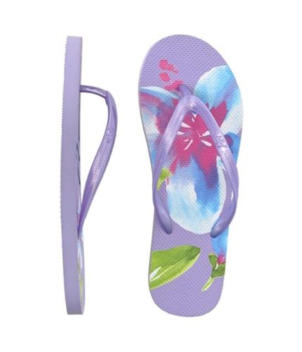 Aeropostale Womens Graphic Flip Flop Sandals ltlavepurple 10