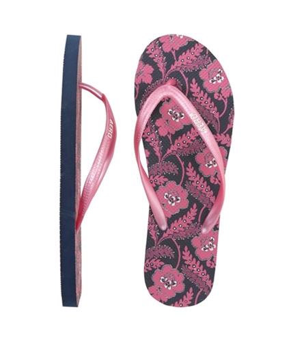 Aeropostale Womens Floral Print Flip Flop Sandals navyniblue 10