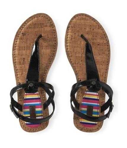 Aeropostale Womens Cork T-strap Flip Flop Sandals 001 6