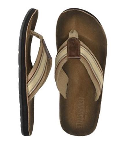 Aeropostale Mens Graphic Flip Flop Sandals claybrown L
