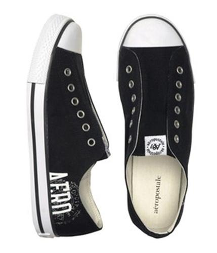 Aeropostale Womens Stringless Tennis Sneakers black 7.5