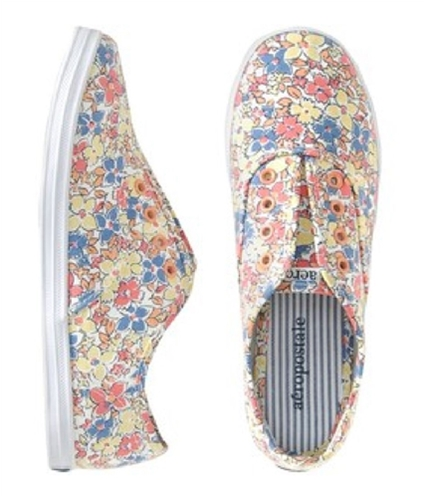 Aeropostale Womens Slip On Stringless Tennis Sneakers floraltanoffwhite 6