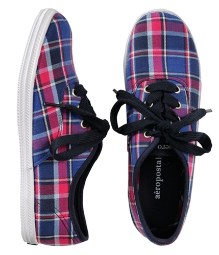 Aeropostale Womens Plaid Tennis Sneakers navyni 9.5