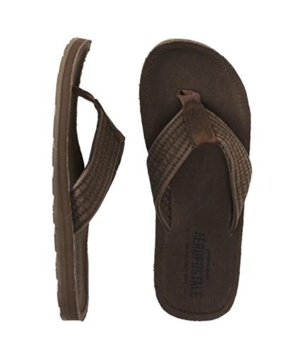 Aeropostale Mens Filp Flip Flop Sandals burntsbrown M