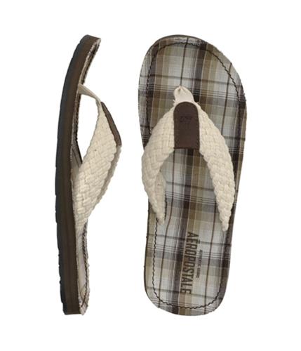 Aeropostale Mens Filp Flip Flop Sandals opaloffwhite M