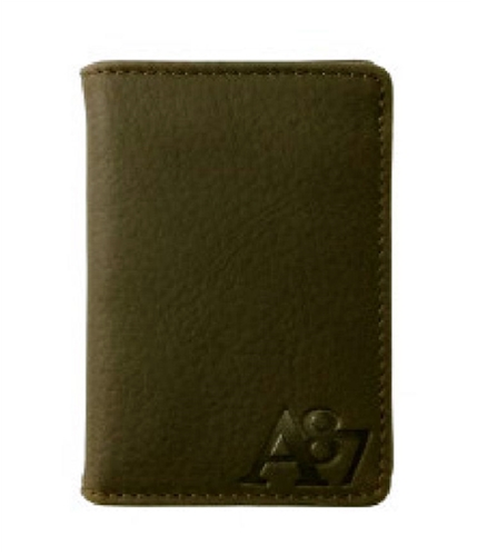 Aeropostale Mens Folded Leather Bifold Wallet cognac One Size