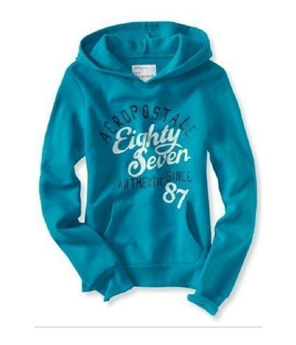 Aeropostale Womens Authentic 87 Pullover Hoodie Sweatshirt teal L