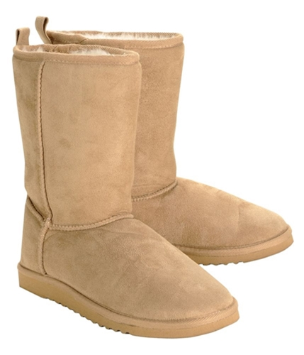 Aeropostale Womens Faux Fur Lined Sherpa Comfort Boots brown2 9.5
