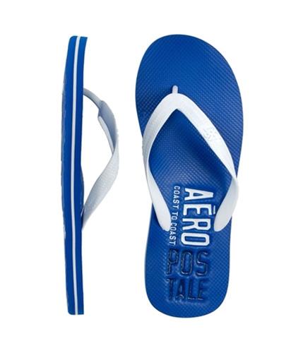 Aeropostale Mens Filp S Thongs Flip Flop Sandals activeblue S