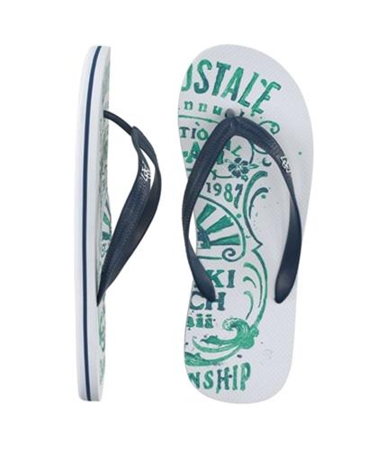 Aeropostale Mens S Thongs Flip Flop Sandals bleachwhite L