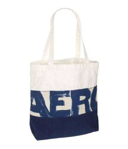 Aeropostale Womens Shopper Beach Tote Handbag Purse navyblue