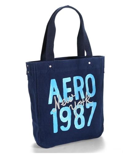 Aeropostale Womens Glitter 1987 Ny Tote Handbag Purse navyniblue