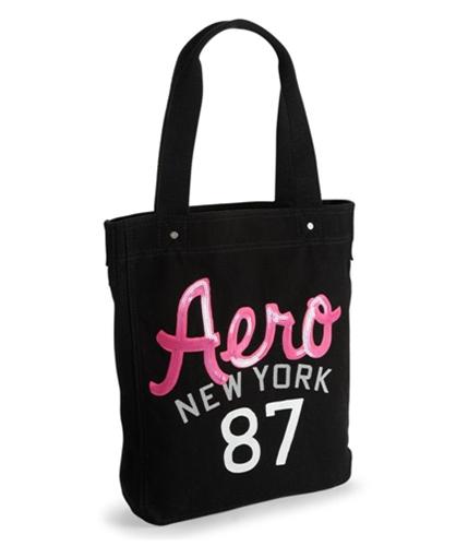 Aeropostale Womens Sequined Tote Handbag Purse black