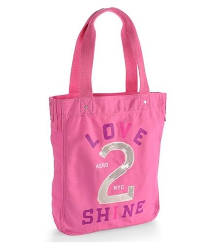 Aeropostale Womens Love 2 Shine Sequined Tote Handbag Purse ltpink