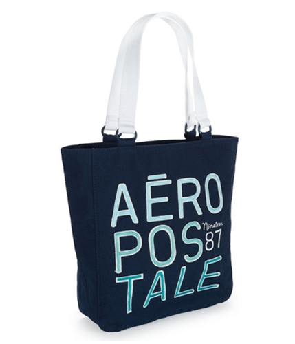 Aeropostale Womens Messenger Book Tote Handbag Purse navyni