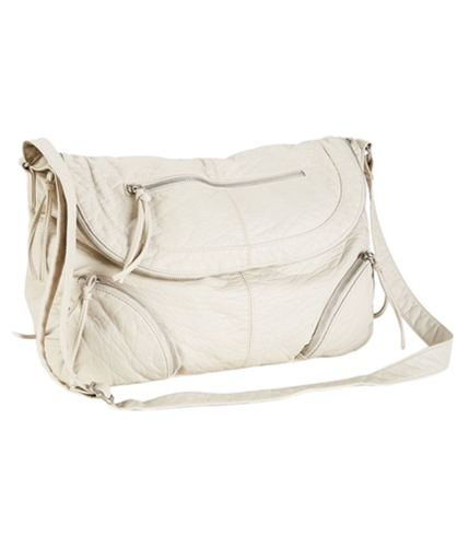 Aeropostale Womens Faux Leather Messenger Bag