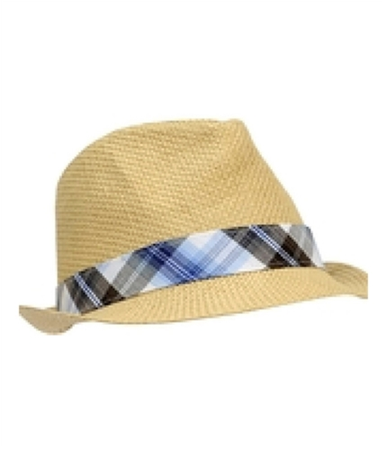 Aeropostale Mens 100% Straw Fedora Trilby Hat beachsandtan S/M
