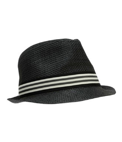 Aeropostale Mens Straw Fedora Trilby Hat black S/M