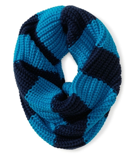 Aeropostale Womens Knitted Circle Infinity Scarf Wrap navyni Short