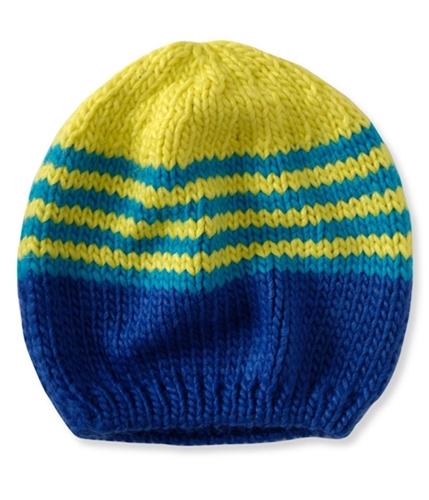 Aeropostale Womens Stripe -block Slouch Beanie Hat limegr One Size