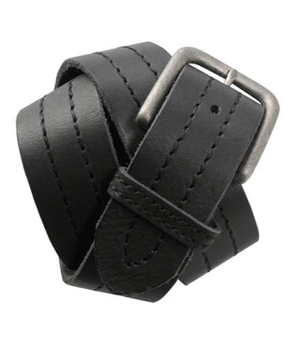 Aeropostale Mens Center Stitched Leather Belt black S