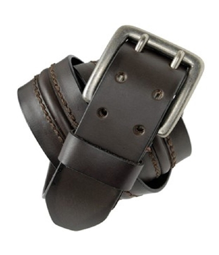 Aeropostale Mens 100% Leather Belt darkbrown S