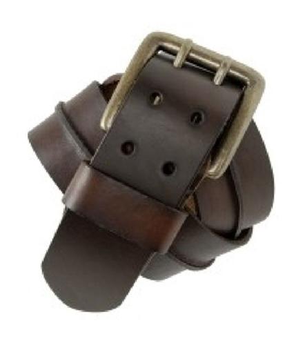 Aeropostale Mens Center Strip Leather Belt mediumbrown S