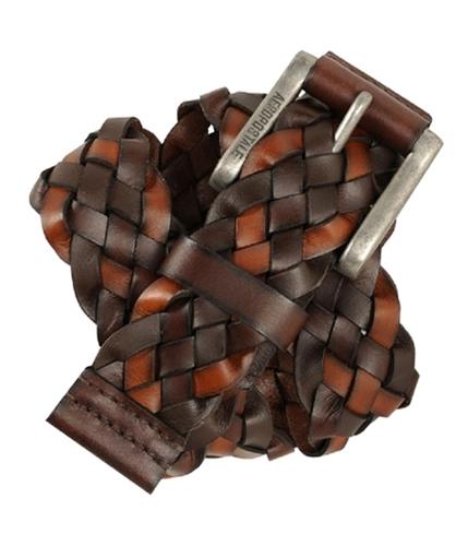 Aeropostale Mens Leather Braided Belt mulit S