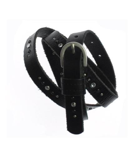 Aeropostale Womens Studded Jeweled Skinny Belt black M