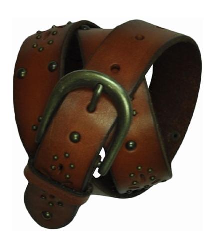 Aeropostale Womens Metal Leather Belt cognacbrown S