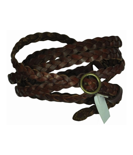 Aeropostale Womens Leather Braided Belt mediumredbrown M/L